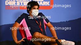 Lance Stroll (CDN) Racing Point F1 Team in the FIA Press Conference. 09.07.2020. Formula 1 World Championship, Rd 2, Steiermark Grand Prix, Spielberg, Austria, Preparation Day.
