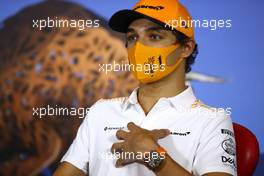 Lando Norris (GBR) McLaren in the FIA Press Conference. 09.07.2020. Formula 1 World Championship, Rd 2, Steiermark Grand Prix, Spielberg, Austria, Preparation Day.