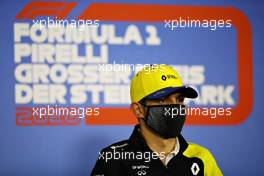 Esteban Ocon (FRA) Renault F1 Team in the FIA Press Conference. 09.07.2020. Formula 1 World Championship, Rd 2, Steiermark Grand Prix, Spielberg, Austria, Preparation Day.