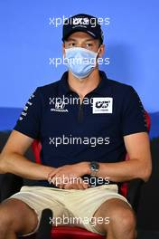 Daniil Kvyat (RUS) AlphaTauri in the FIA Press Conference. 09.07.2020. Formula 1 World Championship, Rd 2, Steiermark Grand Prix, Spielberg, Austria, Preparation Day.