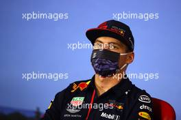Max Verstappen (NLD) Red Bull Racing in the FIA Press Conference. 09.07.2020. Formula 1 World Championship, Rd 2, Steiermark Grand Prix, Spielberg, Austria, Preparation Day.