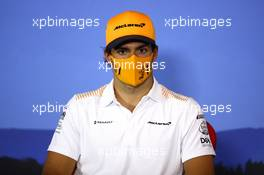 Carlos Sainz Jr (ESP) McLaren in the FIA Press Conference. 09.07.2020. Formula 1 World Championship, Rd 2, Steiermark Grand Prix, Spielberg, Austria, Preparation Day.