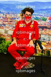 Mattia Binotto (ITA) Ferrari Team Principal in the FIA Press Conference. 11.09.2020. Formula 1 World Championship, Rd 9, Tuscan Grand Prix, Mugello, Italy, Practice Day.