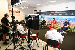 The FIA Press Conference (L to R): Guenther Steiner (ITA) Haas F1 Team Prinicipal; Mattia Binotto (ITA) Ferrari Team Principal; Otmar Szafnauer (USA) Racing Point F1 Team Principal and CEO. 11.09.2020. Formula 1 World Championship, Rd 9, Tuscan Grand Prix, Mugello, Italy, Practice Day.