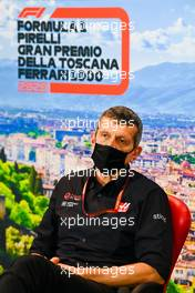 Guenther Steiner (ITA) Haas F1 Team Prinicipal in the FIA Press Conference. 11.09.2020. Formula 1 World Championship, Rd 9, Tuscan Grand Prix, Mugello, Italy, Practice Day.