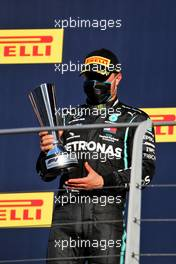 Valtteri Bottas (FIN) Mercedes AMG F1 celebrates his second position on the podium. 13.09.2020. Formula 1 World Championship, Rd 9, Tuscan Grand Prix, Mugello, Italy, Race Day.