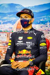 Alexander Albon (THA) Red Bull Racing in the post race FIA Press Conference. 13.09.2020. Formula 1 World Championship, Rd 9, Tuscan Grand Prix, Mugello, Italy, Race Day.