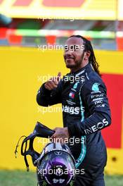 Race winner Lewis Hamilton (GBR) Mercedes AMG F1 celebrates in parc ferme. 13.09.2020. Formula 1 World Championship, Rd 9, Tuscan Grand Prix, Mugello, Italy, Race Day.