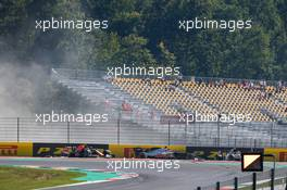 Max Verstappen (NLD) Red Bull Racing RB16 crashed out of the race with Romain Grosjean (FRA) Haas F1 Team VF-20 and Pierre Gasly (FRA) AlphaTauri AT01. 13.09.2020. Formula 1 World Championship, Rd 9, Tuscan Grand Prix, Mugello, Italy, Race Day.