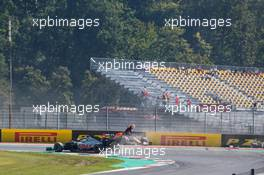 Max Verstappen (NLD) Red Bull Racing RB16 crashed out of the race. 13.09.2020. Formula 1 World Championship, Rd 9, Tuscan Grand Prix, Mugello, Italy, Race Day.