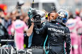 Race winner Lewis Hamilton (GBR) Mercedes AMG F1 celebrates winning his seventh World Championship in parc ferme with team mate Valtteri Bottas (FIN) Mercedes AMG F1. 15.11.2020. Formula 1 World Championship, Rd 14, Turkish Grand Prix, Istanbul, Turkey, Race Day.