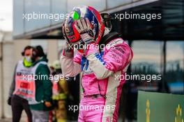 Sergio Perez (MEX) Racing Point F1 Team celebrates his second position in parc ferme. 15.11.2020. Formula 1 World Championship, Rd 14, Turkish Grand Prix, Istanbul, Turkey, Race Day.