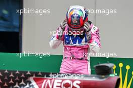 Sergio Perez (MEX) Racing Point F1 Team in parc ferme. 15.11.2020. Formula 1 World Championship, Rd 14, Turkish Grand Prix, Istanbul, Turkey, Race Day.