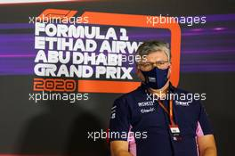 Otmar Szafnauer (USA) Racing Point F1 Team Principal and CEO in the FIA Press Conference. 11.12.2020. Formula 1 World Championship, Rd 17, Abu Dhabi Grand Prix, Yas Marina Circuit, Abu Dhabi, Practice Day.