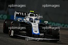 Nicholas Latifi (CDN) Williams Racing FW43. 11.12.2020. Formula 1 World Championship, Rd 17, Abu Dhabi Grand Prix, Yas Marina Circuit, Abu Dhabi, Practice Day.