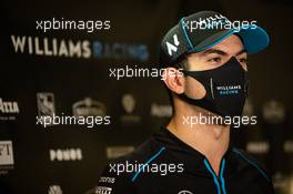 Nicholas Latifi (CDN) Williams Racing with the media. 11.12.2020. Formula 1 World Championship, Rd 17, Abu Dhabi Grand Prix, Yas Marina Circuit, Abu Dhabi, Practice Day.