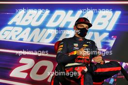 Max Verstappen (NLD) Red Bull Racing in the post qualifying FIA Press Conference. 12.12.2020. Formula 1 World Championship, Rd 17, Abu Dhabi Grand Prix, Yas Marina Circuit, Abu Dhabi, Qualifying Day.