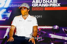 Carlos Sainz Jr (ESP) McLaren in the FIA Press Conference. 10.12.2020. Formula 1 World Championship, Rd 17, Abu Dhabi Grand Prix, Yas Marina Circuit, Abu Dhabi, Preparation Day.