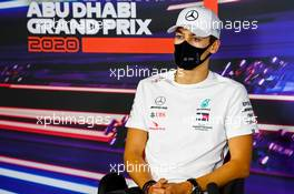 George Russell (GBR) Mercedes AMG F1 in the FIA Press Conference. 10.12.2020. Formula 1 World Championship, Rd 17, Abu Dhabi Grand Prix, Yas Marina Circuit, Abu Dhabi, Preparation Day.
