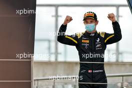Christian Lundgaard (DEN) ART celebrates his second position on the podium.                               