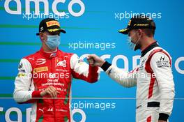 Mick Schumacher (GER) PREMA Racing and Luca Ghiotto (ITA) Hitech. 19.07.2020. FIA Formula 2 Championship, Rd 3, Budapest, Hungary, Sunday.