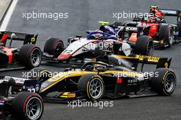 Guanyu Zhou (CHN) Uni-Virtuosi Racing at the start of the race. 19.07.2020. FIA Formula 2 Championship, Rd 3, Budapest, Hungary, Sunday.