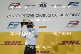Yuki Tsunoda (JPN) Carlin celebrates being 'Driver of the Year' in the 2020 FIA Formula 2 Championship. 06.12.2020. FIA Formula 2 Championship Prize Giving Ceremony, Sakhir, Bahrain, Sunday.