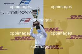 Yuki Tsunoda (JPN) Carlin celebrates finishing third in the 2020 FIA Formula 2 Championship. 06.12.2020. FIA Formula 2 Championship Prize Giving Ceremony, Sakhir, Bahrain, Sunday.