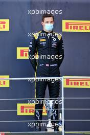Race winner Christian Lundgaard (DEN) ART on the podium.