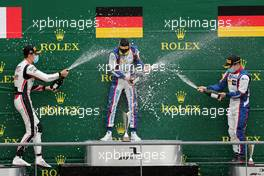 1st Lirim Zendeli (GER) Trident, 2nd Theo Pourchaire (FRA) ART and 3rd David Beckmann (GER) Trident. 29.08.2020. Formula 3 Championship, Rd 7, Spa-Francorchamps, Belgium, Saturday.