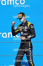 Race winner Oscar Piastri (AUS) PREMA Racing celebrates on the podium. 16.08.2020. FIA Formula 3 Championship, Rd 6, Barcelona, Spain, Sunday.
