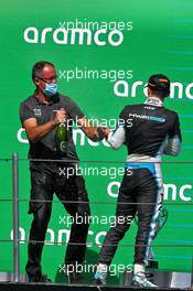 Race winner Jake Hughes (GBR) HWA RACELAB celebrates on the podium. 15.08.2020. FIA Formula 3 Championship, Rd 6, Barcelona, Spain, Saturday.