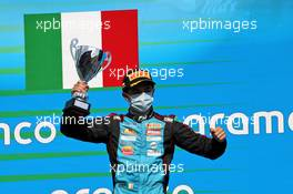 Matteo Nannini (ITA) Jenzer Motorsport celebrates his third position on the podium.