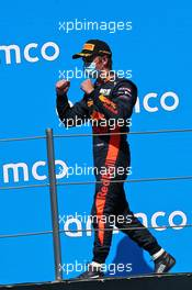 Liam Lawson (NZL) Hitech celebrates his second position on the podium. 15.08.2020. FIA Formula 3 Championship, Rd 6, Barcelona, Spain, Saturday.