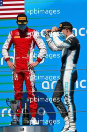 Race winner Jake Hughes (GBR) HWA RACELAB (Right) celebrates on the podium. 15.08.2020. FIA Formula 3 Championship, Rd 6, Barcelona, Spain, Saturday.