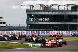 Oscar Piastri (AUS) PREMA Racing at the start of the race. 01.08.2020. FIA Formula 3 Championship, Rd 4, Silverstone, England, Saturday.