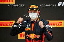 Race winner Liam Lawson (NZL) Hitech celebrates on the podium. 01.08.2020. FIA Formula 3 Championship, Rd 4, Silverstone, England, Saturday.