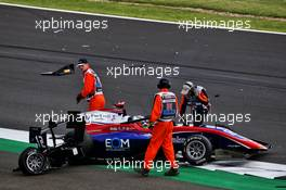 Olli Caldwell (GBR) Trident crahed out of the race. 01.08.2020. FIA Formula 3 Championship, Rd 4, Silverstone, England, Saturday.