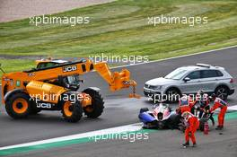 Olli Caldwell (GBR) Trident crashed out of the race. 01.08.2020. FIA Formula 3 Championship, Rd 4, Silverstone, England, Saturday.