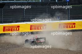 Lukas Dunner (AUT) MP Motorsport crashed out of the race. 01.08.2020. FIA Formula 3 Championship, Rd 4, Silverstone, England, Saturday.