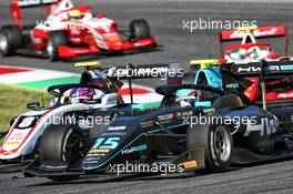 (L to R): Alexander Smolyar (RUS) ART and Jake Hughes (GBR) HWA RACELAB battle for position. 13.09.2020. Formula 3 Championship, Rd 9, Mugello, Italy, Sunday.
