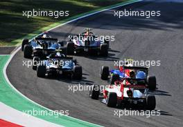 Logan Sargeant (USA) PREMA Racing at the start of the race. 13.09.2020. Formula 3 Championship, Rd 9, Mugello, Italy, Sunday.