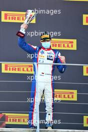 David Beckmann (GER) Trident celebrates his second position on the podium. 13.09.2020. Formula 3 Championship, Rd 9, Mugello, Italy, Sunday.