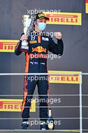 Race winner Liam Lawson (NZL) Hitech celebrates on the podium. 13.09.2020. Formula 3 Championship, Rd 9, Mugello, Italy, Sunday.