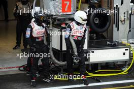 Toyota Gazoo Racing makes a pit stop.