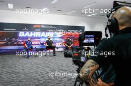 (L to R): Jost Capito (GER) Williams Racing Chief Executive Officer; Laurent Rossi (FRA) Alpine Chief Executive Officer; and Toyoharu Tanabe (JPN) Honda Racing F1 Technical Director, in the FIA Press Conference. 26.03.2021. Formula 1 World Championship, Rd 1, Bahrain Grand Prix, Sakhir, Bahrain, Practice Day