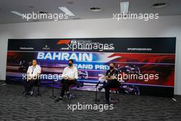 (L to R): Zak Brown (USA) McLaren Executive Director; Toto Wolff (GER) Mercedes AMG F1 Shareholder and Executive Director; and Christian Horner (GBR) Red Bull Racing Team Principal, in the FIA Press Conference. 26.03.2021. Formula 1 World Championship, Rd 1, Bahrain Grand Prix, Sakhir, Bahrain, Practice Day