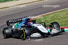 George Russell (GBR) Williams Racing FW43B. 16.04.2021. Formula 1 World Championship, Rd 2, Emilia Romagna Grand Prix, Imola, Italy, Practice Day.
