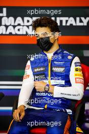 Lando Norris (GBR) McLaren in the post race FIA Press Conference. 18.04.2021. Formula 1 World Championship, Rd 2, Emilia Romagna Grand Prix, Imola, Italy, Race Day.