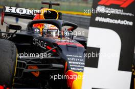 Race winner Max Verstappen (NLD) Red Bull Racing RB16B in parc ferme. 18.04.2021. Formula 1 World Championship, Rd 2, Emilia Romagna Grand Prix, Imola, Italy, Race Day.